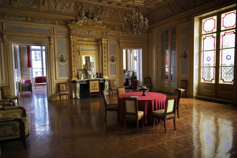 Le Palais Vivienne, propriété de Pierre-Jean Chalencon, le 8 avril 2021