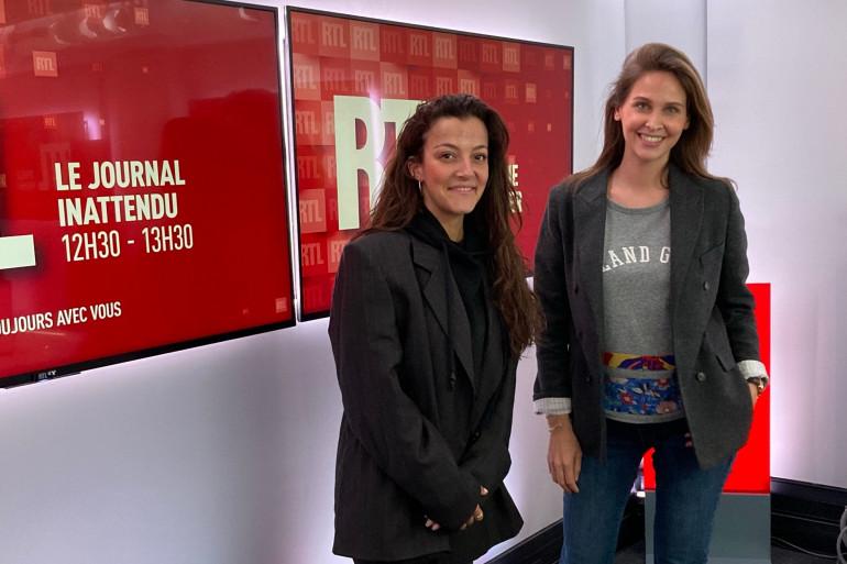 Camille Lellouche et Ophélie Meunier à RTL le 10 avril 2021