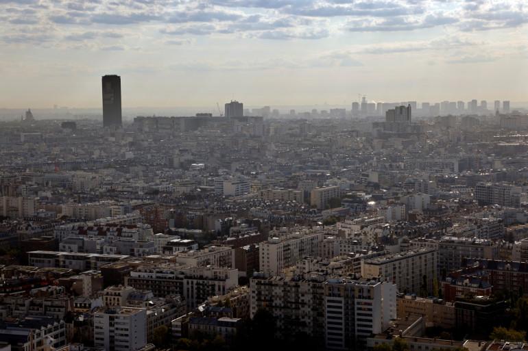 Une photo aérienne prise le 15 septembre 2020 dans l'Ouest de Paris. (Illustration)