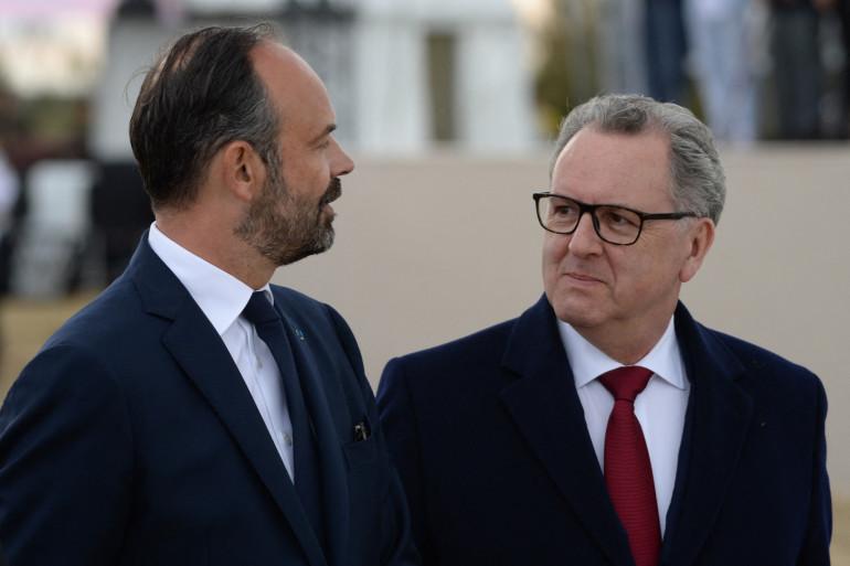 Édouard Philippe, alors Premier ministre, et Richard Ferrand, président de l'Assemblée nationale, le 6 juin 2019