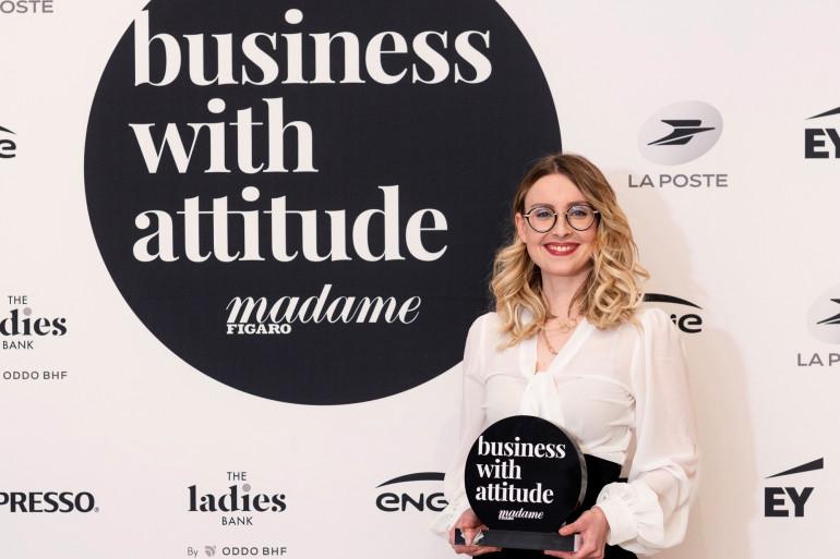 Maryne Cotty-Eslous, fondatrice de Lucine est la lauréate du prix #BusinesswithAttitude - Madame Figaro 2021