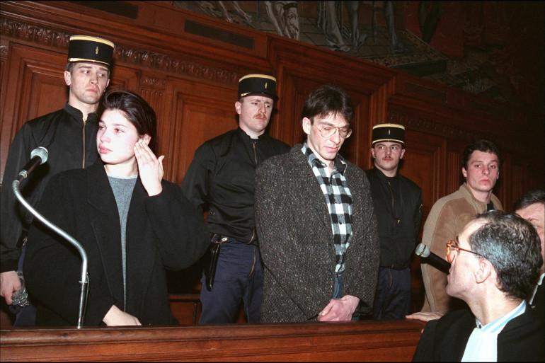 Valérie Subra, 21 ans, Jean Remi Sarraud, 24 ans, et Laurent Hattad  comparaissent devant la Cour Criminelle de Paris, le 8 janvier 1988.