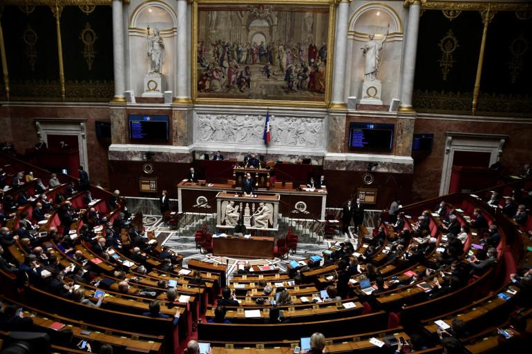 L'hémicycle de l'Assemblée nationale, le 13 avril 2021
