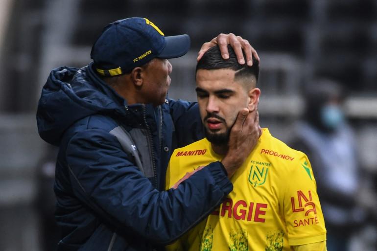 Antoine Kombaouré et Imran Louza avec Nantes à Angers le 14 février 2021