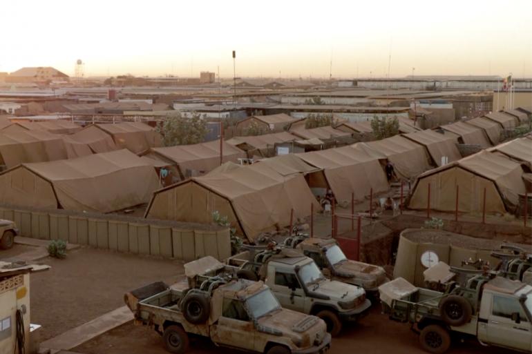 Un camp militaire de l'opération Barkhane au Mali