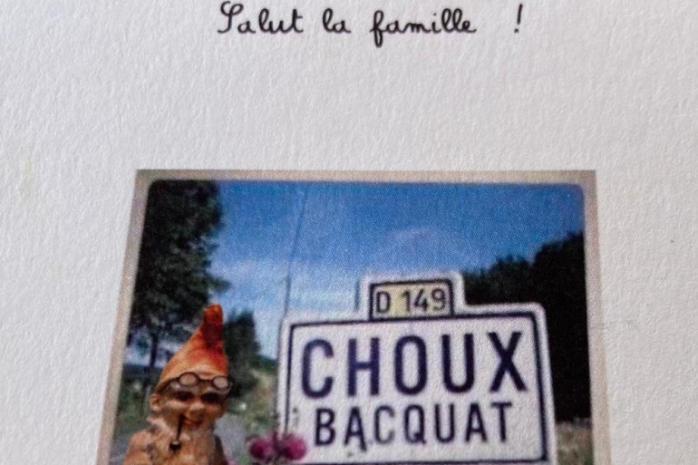 Une carte reçue par Dany Lautrou.