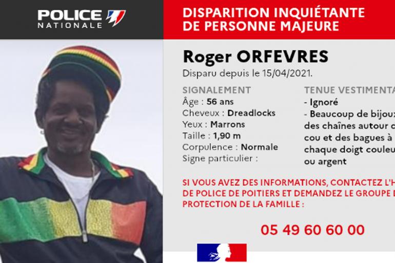 Roger Orfevres a disparu depuis le 14 avril 2021