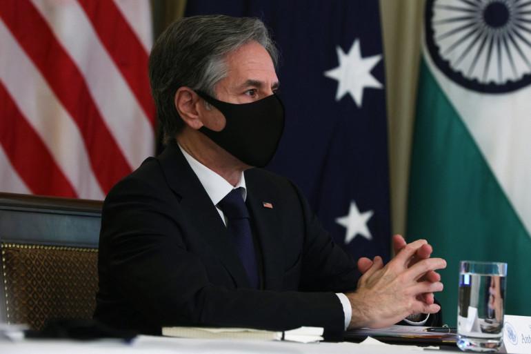 Le secrétaire d'État américain Antony Blinken, lors d'une réunion le 12 mars 2021 à la Maison Blanche, à Washington.