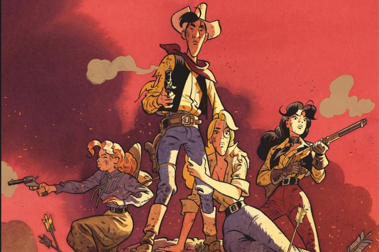 """"""" Wanted Lucky Luke"""" est une bande dessinée de Matthieu Bonhomme"""