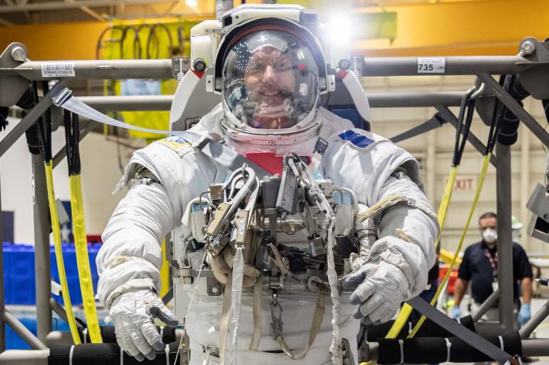 Thomas Pesquet lors des préparatifs de la mission Alpha en juillet 2020