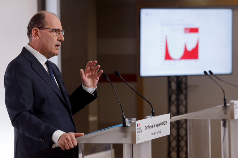 Jean Castex en conférence de presse le 22 avril 2021