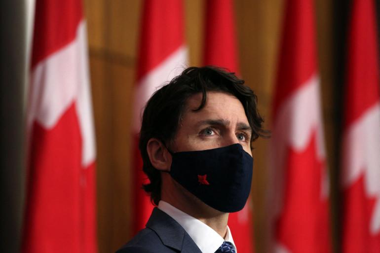Le Premier ministre canadien Justin Trudeau le 16 avril 2021.