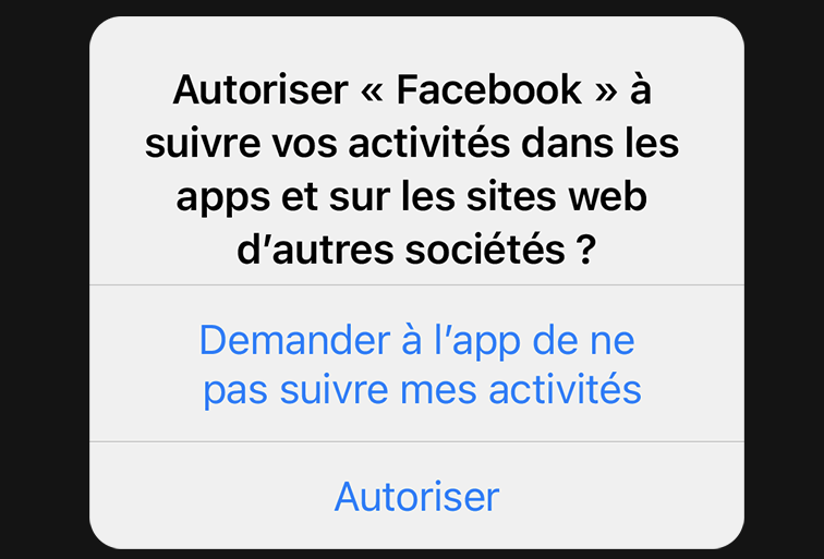Avec iOS 14.5, les applications doivent demander l'autorisation pour suivre les utilisateus
