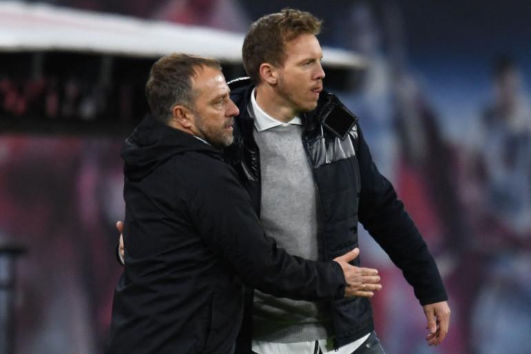Hans-Dieter Flisk et Julian Nagelsmann à Leipzig le 3 avril 2021