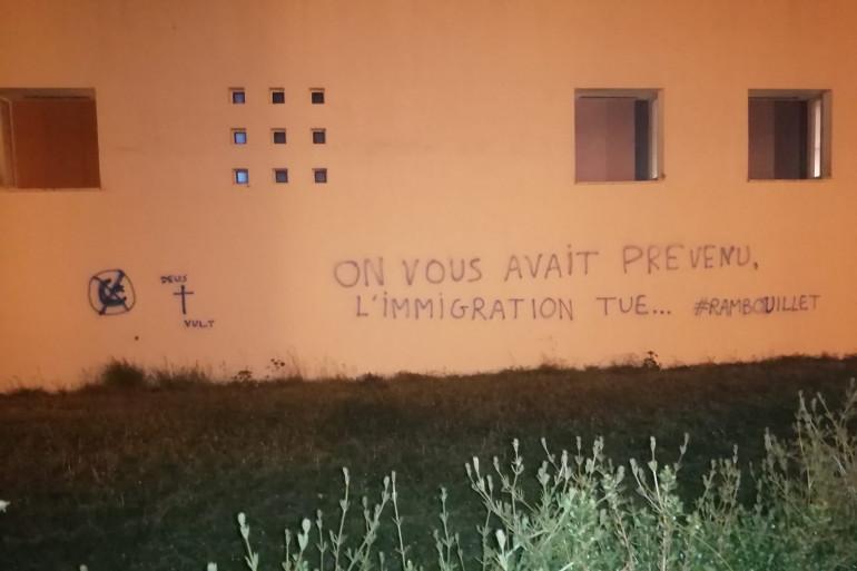 Les murs du centre de Rennes, tagué d'insultes islamophobes