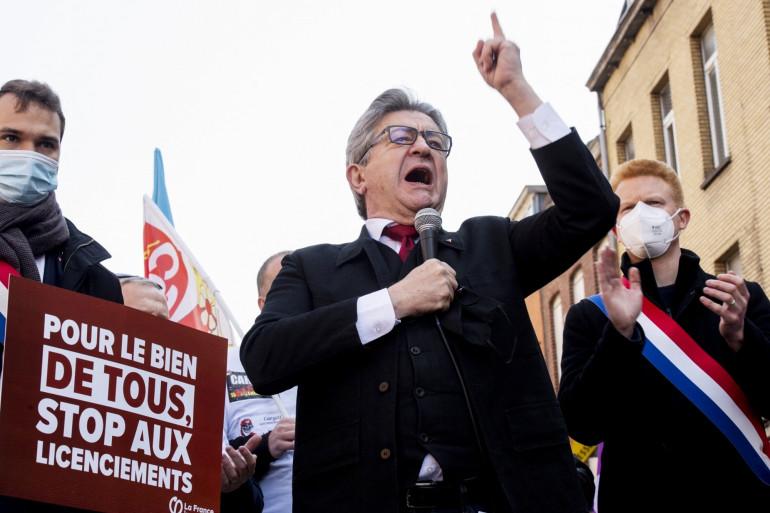 Jean-Luc Mélenchon le 1er mai 2021 à Lille.
