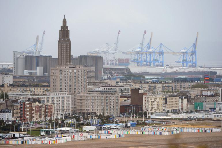 Cette photo prise le 9 mai 2019 montre Le Havre harbourg, dans le nord de la France. (Illustration)