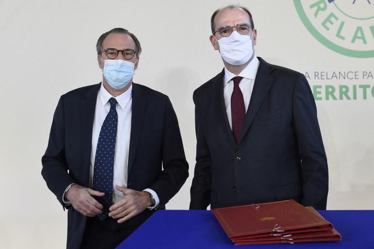 Renaud Muselier, président sortant LR de la région PACA et Jean Castex le 5 janvier 2021.