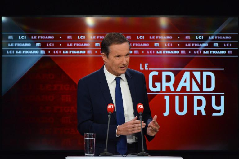 """Nicolas Dupont-Aignan était l'invité du """"Grand Jury-RTL-Le Figaro-LCI"""" dimanche 2 mai."""