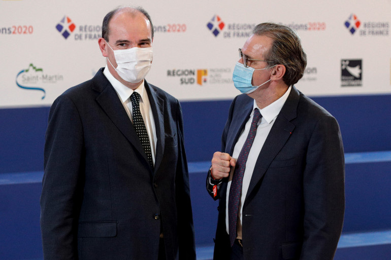 Jean Castex et Renaud Muselier, le 19 octobre 2020