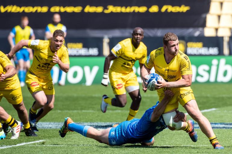 Image de la demi-finale de coupe d'Europe entre La Rochelle et le Leinster au Stade Marcel Deflandre à La Rochelle, dans l'ouest de la France, le 2 mai 2021.