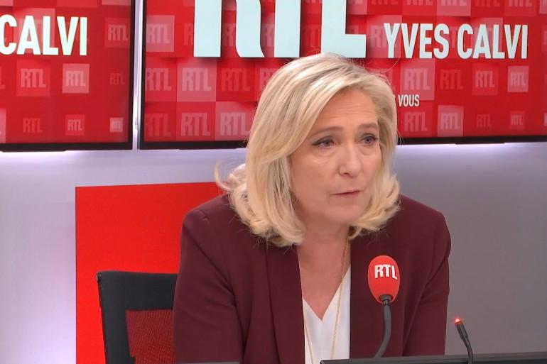 Marine Le Pen était l'invitée de RTL.