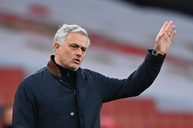 L'entraîneur portugais José Mourinho le 14 mars 2021