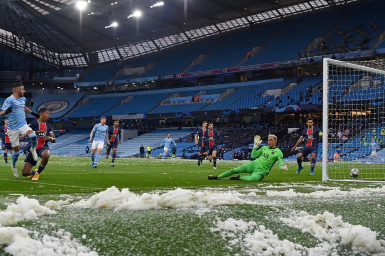 11e minute, le 4 mai 2021 : Manchester City ouvre le score face au PSG
