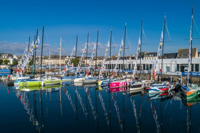 Les Figaro 3 dans le port de Concarneau