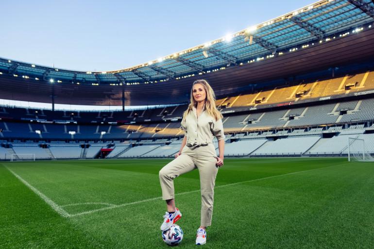 Marie Portolano au Stade de France en 2021