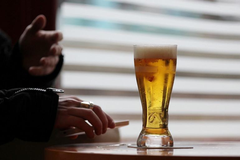 Un verre de bière. (Illustration)