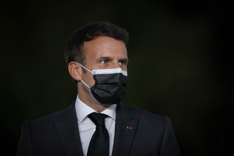 Le président Emmanuel Macron au Palacio de Cristal dans le cadre du sommet social de Porto organisé au centre des congrès Alfandega de Porto en mai 7, 2021.