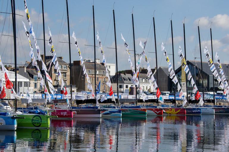 Les bateaux dans le port de Concarneau