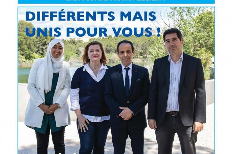 L'affiche de campagne pour les élections départementales dans l'Hérault