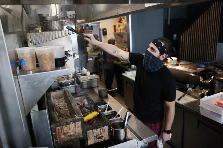 Un restaurant américain à Miami (Illustration)