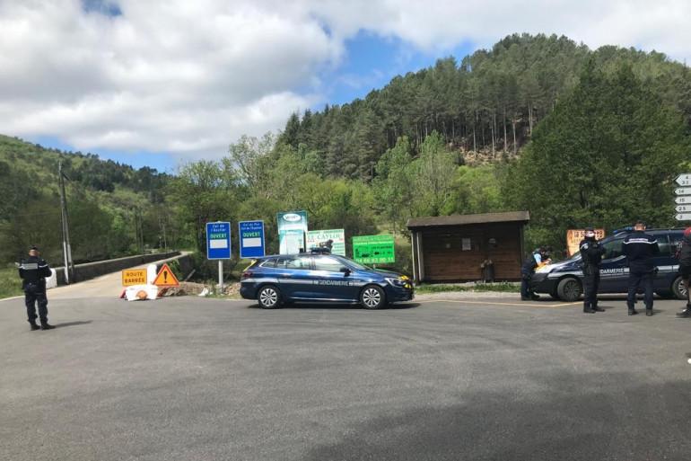 L'accès bloqué au village des Plantiers dans le Gard