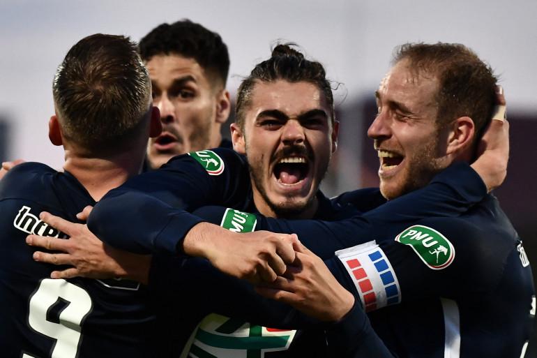 Les joueurs du Rumilly-Vallières lors de la victoire contre Toulouse