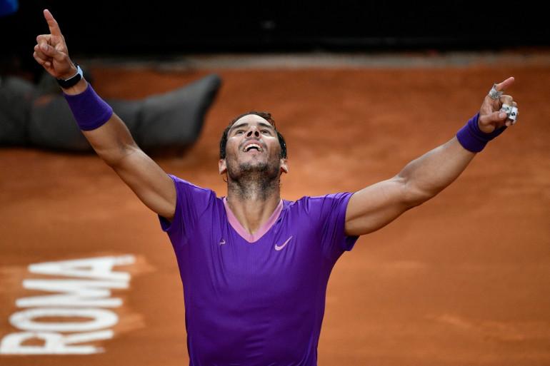 Rafael Nadal à Rome le 16 mai 2021