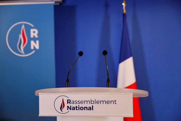 Photo prise au siège du Rassemblement National (RN) à Nanterre, près de Paris, le 29 janvier 2021. (Illustration)