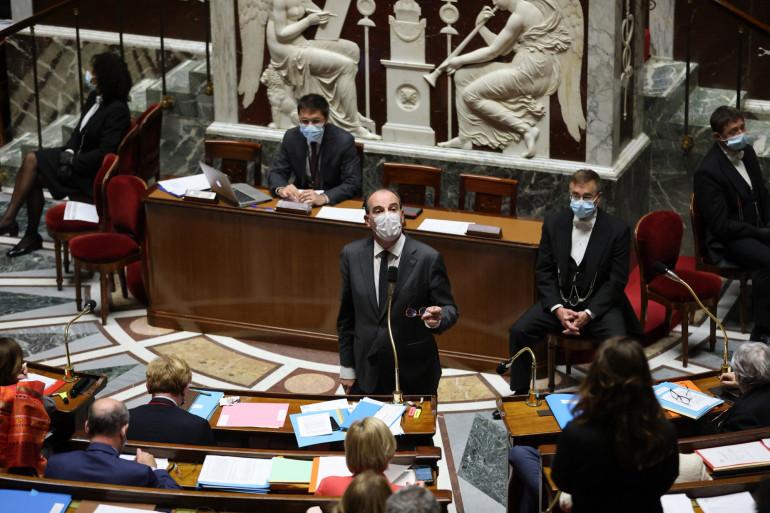 Le Premier ministre Jean Castex lors de la séance de questions au gouvernement le 18 mai 2021.