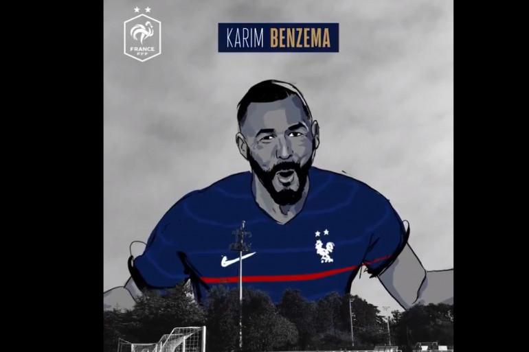 Karim Benzema fait son grand retour en équipe de France pour l'Euro 2021