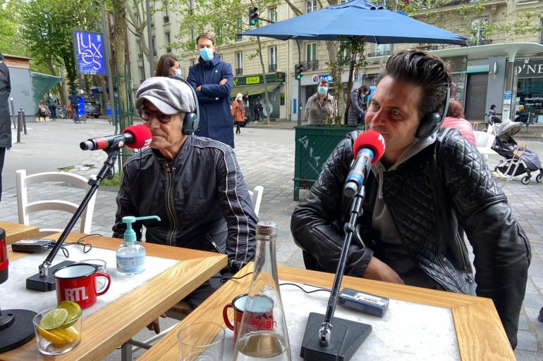 Gérard Lanvin et son fils Manu Lanvin étaient les invités de RTL soir mercredi 19 mai.