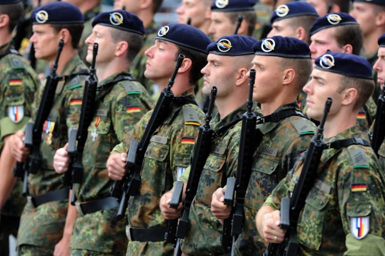 Des soldats du 291e Jagerbataillon franco-allemand.
