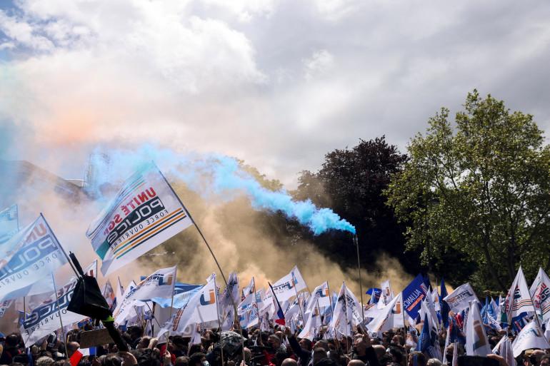 La manifestation des policiers le 19 mai 2021 à Paris