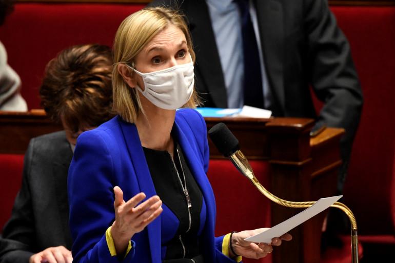 La ministre déléguée en charge de l'Industrie Agnès Pannier-Runacher pendant une session de Questions au gouvernement le 26/01/2021