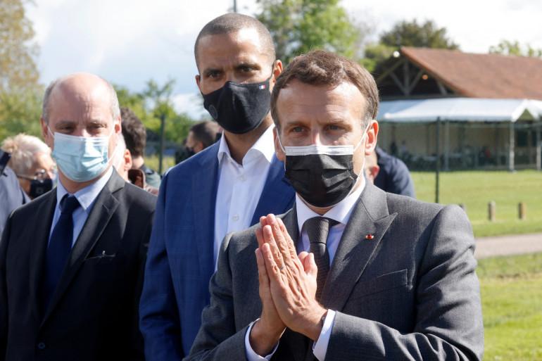 Emmanuel Macron visite des clubs de sports dans l'Aube le 19 mai 2021