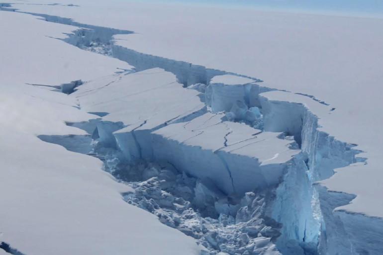 La faille de la banquise Larsen C, en Antarctique, en février 2017