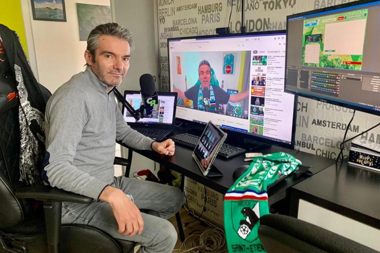 Flavien Neuvy, le maire de Cébazat, commente les matchs de l'AS Saint-Étienne, sur sa chaîne YouTube