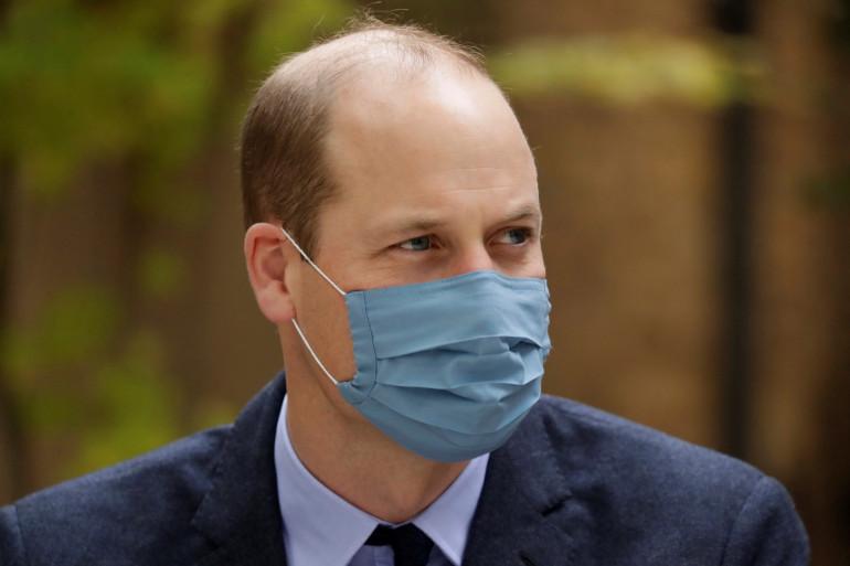 Le prince William, le 20 octobre 2020 au St. Bartholomew's Hospital de Londres