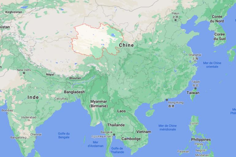 Localisation de la province chinoise Qinghai frappée par un séisme de magnitude 7,3 tôt samedi 22 mai.